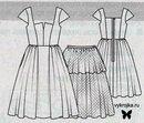 Схема длинного платья