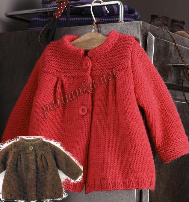 вязаные пальто для детей схемы