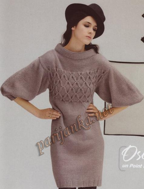 Рубрика: Вязание спицами для женщин Платья Метки: вязаное платье вязаное платье спицами мини- платье