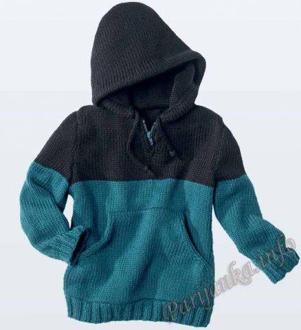Вязание кофта с капюшоном мальчик 499