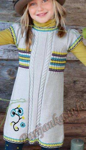 Платье с короткими рукавами (д) 755 Creations 2013/2014 Bergere de France №3928