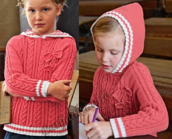 Пуловер с капюшоном (д) 767 Creations 2013/2014 Bergere de France №3647