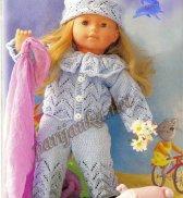 Брючный костюм и шапка для куклы №1067