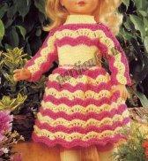 Двухцветное платье для куклы №1068