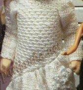 Свадебное платье для куклы №1069