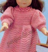 Розовое платье для куклы №1070