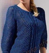 Пуловер с рукавами 3/4 (ж) 01*172 Bergere de France  №4066