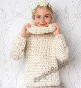 Пуловер со съемным воротником (д) 02116 Phildar №4905
