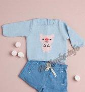 Распашонка или пуловер (д) 02130 Phildar №4689