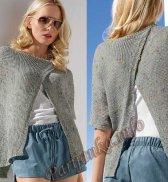 Открытый пуловер (ж) 02*172 Bergere de France №4067