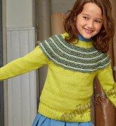 Пуловер со вставкой (д) 02180 Bergere de France №4861