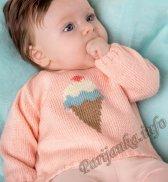 Распашонка или пуловер (д) 03130 Phildar №4691