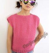 Пуловер без рукавов (д) 03131 Phildar №4736