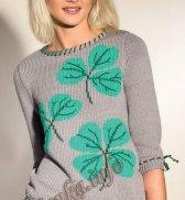 Пуловер «Клевер» (ж) 04118 Phildar №4614