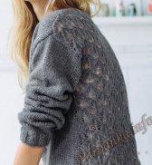 Пуловер с V вырезом (ж) 04135 Phildar №4787