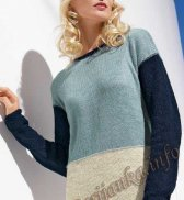 Пуловер с длинными рукавами (ж) 04*172 Bergere de France №4071
