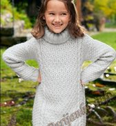 Пуловер-туника (д) 04180 Bergere de France №4907