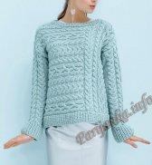 Пуловер (ж) 04655 Phildar №5018