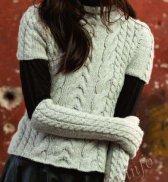 Пуловер с короткими рукавами и длинные митенки (ж) 05225 FAM №4696