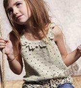 Свое вязание маечки для девочек