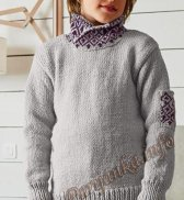Пуловер (д) 09180 Bergere de France №4873