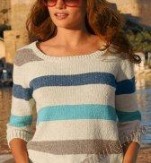 Пуловер в полоску (ж) 11161 Bergere de France №4572