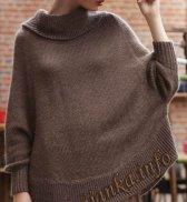 Пуловер-пончо (ж) 11*171 Bergere de France №4021