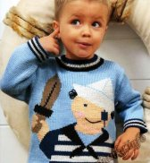 Пуловер «Морячок» (д) 12466 Phildar №4757