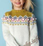 Пуловер (д) 15124 Phildar №4847