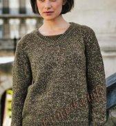 Пуловер с V – образным вырезом (ж) 16183 Bergere de France №4788