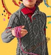 Пуловер с косами (д) 175 Creations 15/16 Bergere de France №4680