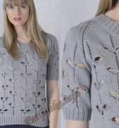 Пуловер «Бабочки» (ж) 17*107 Phildar №4084