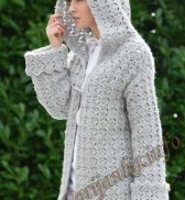Пальто с капюшоном (ж) 17171 Bergere de France №3973
