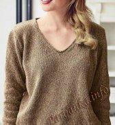 Пуловер с V – образным вырезом (ж) 17183 Bergere de France №5009