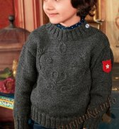 Пуловер с вышивкой (д) 19174 Bergere de France №4548