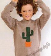 Пуловер «Кактус» (д) 20131 Phildar №4753