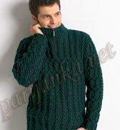 Пуловер с воротником на молнии 210*BDF