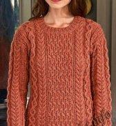 Пуловер с круглым воротником (ж) 26177 Bergere de France №4587