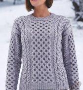 Пуловер с косами (ж) 305 Creations 2016/2017 Bergere de France №4763