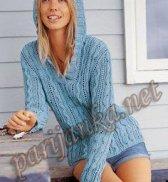 Пуловер с капюшоном  338 BDF