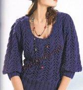 Ажурный пуловер  339*CR BDF