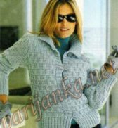 Куртка связанная крючком 774*2004/05 BDF