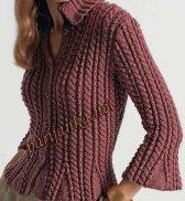 Пуловер с косами 07*Origin' BDF