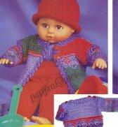 Пуловер, куртка, брюки и шапка <u>вязание для кукол моделей</u> для куклы №1802