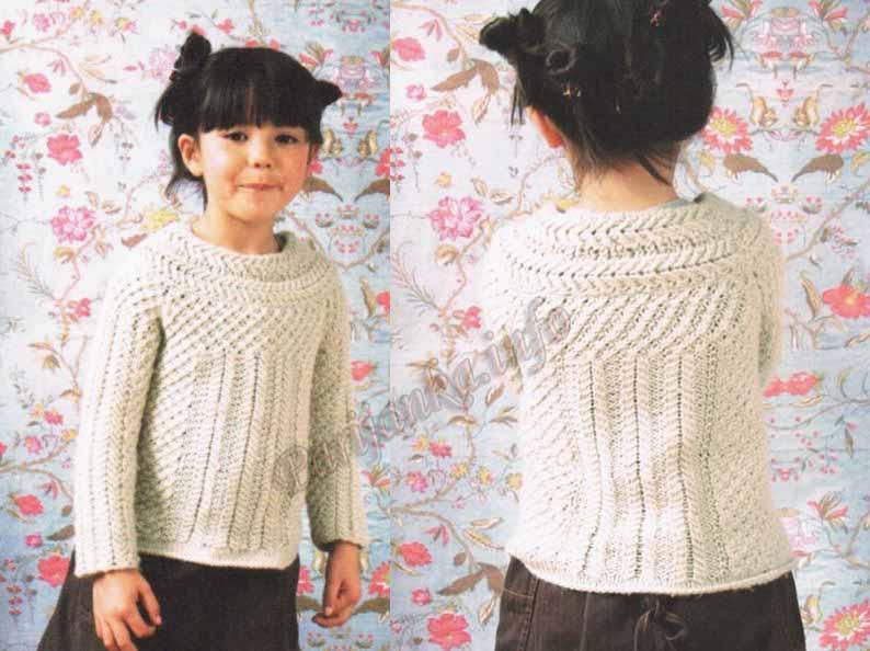 Вязание свитера для девочки на 5 лет 217