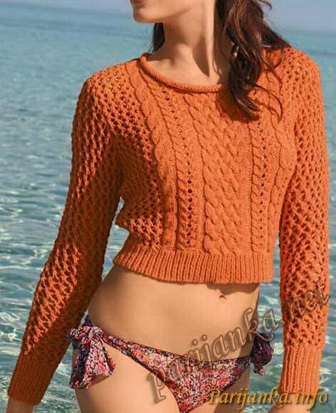 Вяжем короткие свитера