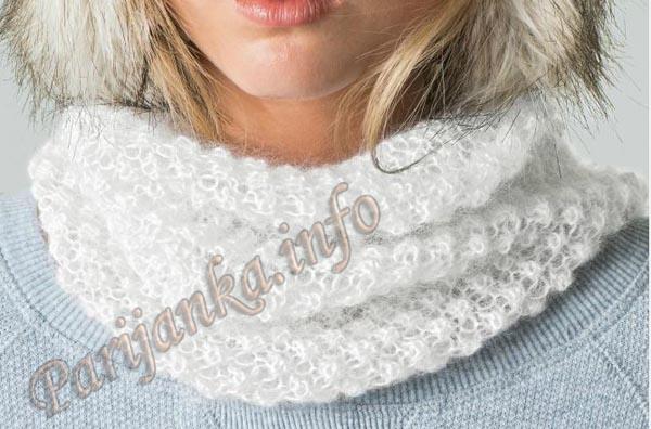 Как связать шарф из мохера