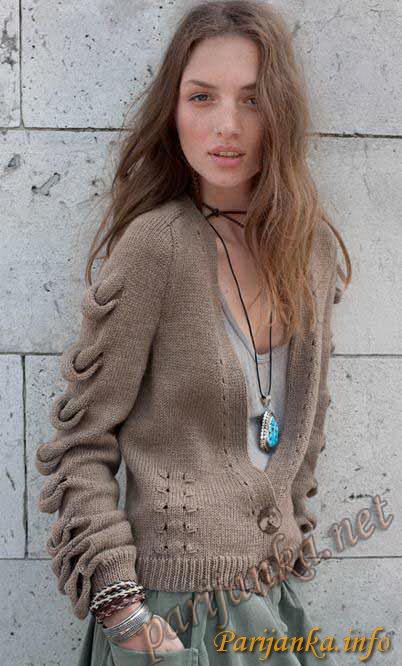 Необычное вязание для женщин спицами 76